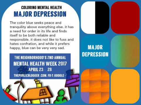 Blue color of depression