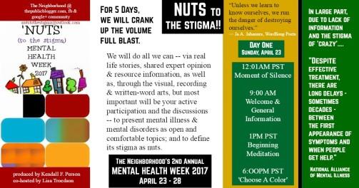 Mental health Week Day One